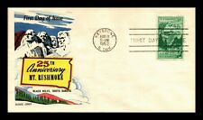 DR JIM STAMPS US SCOTT 1011 MT RUSHMORE MEMORIAL FDC FLUEGEL COVER UNSEALED