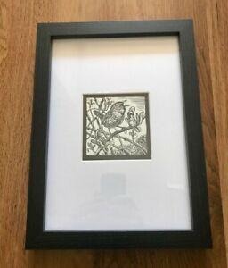 'Wren' - Framed & Mounted Bird Illustration by Richard Allen