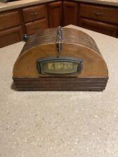 Vintage 1930-40's Pennwood Adler-Royal Cabinet Desk Clock Art Deco Non Working