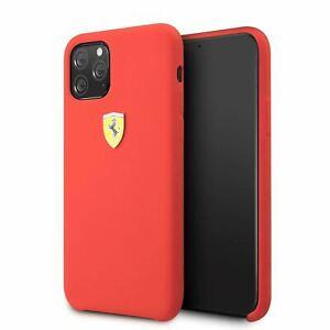 Ferrari® Phone Case Silicone Case for iPhone 11 Pro Max Red