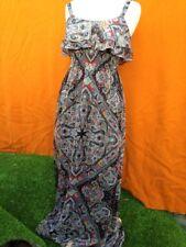 Printed multi-colour maxi sleeveless dress , size 8.