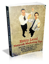 Entry Level Network Marketing Tips PDF eBook With Resale Rights