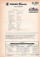 Anleitungen & Schaltbilder Original Service Manual Philips Tonbandgerät El 3555