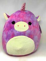 """Squishmallows 16"""" Lola the Unicorn Tye Dye Kellytoy Soft Plush Pillow NWT"""
