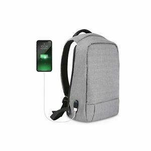 Mens Notebook School Bag Laptop Backpack With USB Charging Port Travel Shoulder