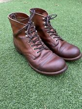RED WING 8111 IRON RANGER BOOTS UK9 EU43