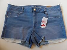 AEO American Eagle Outfitters Womens 18 Shortie Vivid Blue Denim Stretch Shorts