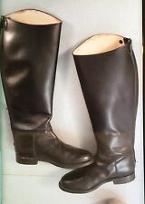 Regent English Black Leather Riding / Hunting Long Boots Size UK 7 (Unisex)
