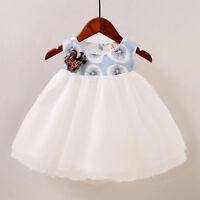 Toddler Newborn Baby Girl Princess Tutu Dress Floral Spliced Party Tulle Dresses