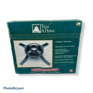 """Trim A Home Live Christmas Tree Stand Sturdy Holds Trunk Size of 3"""" Holiday"""