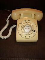 Vintage Dial Telephone Stromberg Carlson Tan Rotary Desk Phone