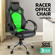 Racing Office Chair Sport Executive Computer Gaming Deluxe PU Leather Mesh 22 GR