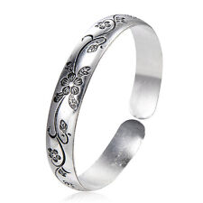 Fashion Jewelry Stainless Steel Bangle Flower Bracelet Lot Retro Pretty