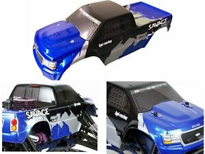 1/8 Truck Truggy Hpi Racing Savage 4.6XL 5.9 Flux RC car body Shell 450mm 4WD