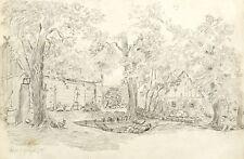LEHDE (LÜBBENAU) - Blockhäuser- Emil Zeising - Bleistiftzeichnung 1878