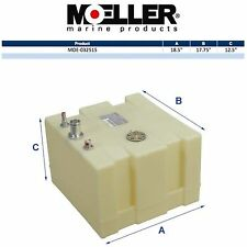 Moeller 32515 15 Gallon Below Deck Permanent Marine Fuel Tank