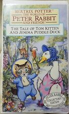 The Tale of Tom Kitten and Jemima Puddle Duck (Vhs, 1993, Clam Shell)