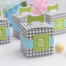 (W34-Blau) 24st Taufgeschenk Gastgeschenk Baby Taufe Geburtstag Box Schachtel