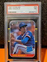 1987 Greg Maddux Rated Rookie #36 Donruss PSA 7 Chicago Cubs 🔥⚾