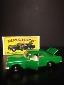 Matchbox #46 Mercedes 300 SE Green  IN  BOX VNM