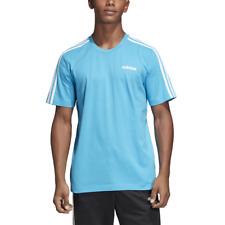 Adidas Men Tshirts Running Tee Training Fashion Workout 3 Stripes Gym DU0443 New
