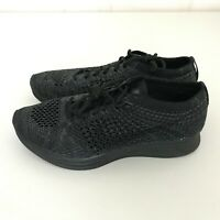Nike Flyknit Racer Triple Black Running Shoes 526628-009 Mens Size 6