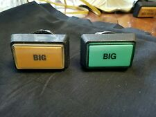 """Video slot machine buttons """"Big"""", lot of 2"""