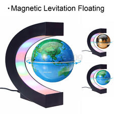 MECO Magnetic Levitation Floating Earth Globe World Map C Shape Base LED  New!