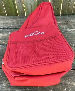 Eddie Bauer Picnic Backpack Insulated Carrier Plates Napkins Silverware