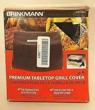 Brinkmann 812-1100-S Table Top Gas BBQ Grill Cover Outdoor Yard BLACK NEW in Box