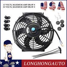 "1X 10"" inch Universal Slim Pull Push Racing Electric Radiator Engine Cooling Fan"