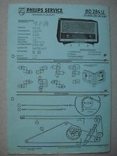 PHILIPS bd284u Philetta 284 DE LUXE Service Manual Savelletri. 05/58 su cartone BLU