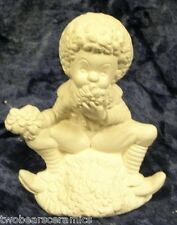 Ceramic Bisque Ready to Paint-collectable May Calendar Clown