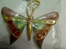Buttefly Soft Tones Neutral Colors Fashion Brooch New Old Stock