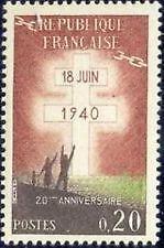 STAMP / TIMBRE DE FRANCE NEUF 1960 LUXE N° 1264 APPEL DU GÉNÉRAL DE GAULLE