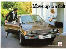 Mitsubishi Colt 1980-81 UK Market Brochure Sapporo Sigma Celeste Lancer 1400