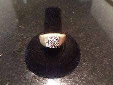 Men's One Carat Diamond Solitaire Brilliant European Cut 14K Gold Estate Ring