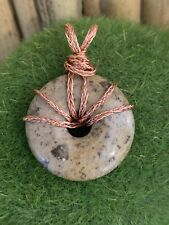 Wire Wrapped Gemstone Crystal  Pendant