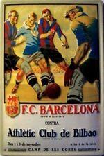 F.C. BARCELONA CAMPO DE CATALUNYA CONTRA EMBOSSED METAL ADVERTISING SIGN 30x20cm