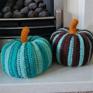 Pumpkin X 2 handmade Halloween decorations crochet
