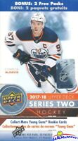 2017/18 Upper Deck Series 2 Hockey HUGE Sealed 12 Pack Blaster Box-2 Young Guns