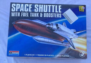 1/72 Monogram Space Shuttle With Fuel Tank & Boosters