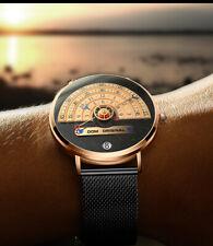 DOM Men's Watch Gold Waterproof Top Brand Luxury Big Dial Creative Quartz Watch