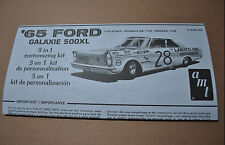 AMT 1/25 1965 FORD GALAXIE 500XL INSTRUCTION GUIDE - FLAWLESS!