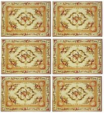 Lot Of 6 Dollhouse Placemats Tableware Kitchen Dining Table Antique Housewares