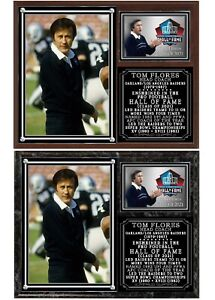 Tom Flores Oakland Raiders 2-Time Super Bowl Champ Photo Plaque