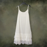 Boho Women White Lace Layering Tunic Tank Top Plus Size Extender Slip XL 1XL 2XL