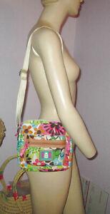 LILY BLOOM Garden Party CROSSBODY Shoulder BAG Adjustable Strap POCKETS Zip Top