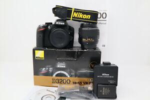 Nikon D3200 24.2MP DSLR Camera (7,995 Shots Taken) w/ 18-55mm VR II Lens + Box