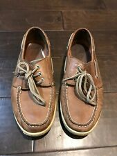 Sperry Topsider Leather Boat Shoes - Size 8.5